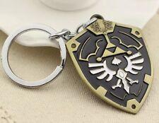 """Legend of Zelda Link Black Hylian Shield 2"""" Metal Keychain US Seller"""