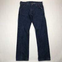 Levi's 514 Men Straight Fit Cinch Back Medium Wash Jeans sz 34x34