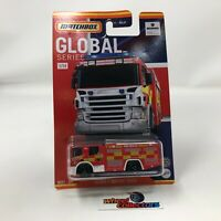 Scania P 360 Fire Truck * Red * 2021 Matchbox GLOBAL UK Series Case A