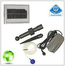 Solar powered Garden Pond Water Pump Oxygenator Oxygen Aerator 1 Stone Design