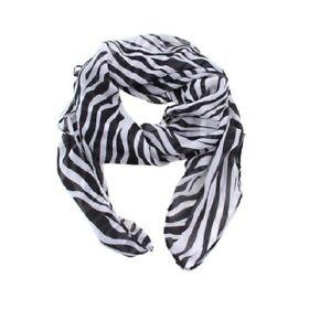Fashion Women Lady Long Printed Zebra Chiffon Neck Scarf Scarves Wrap Soft