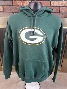 Green Bay Packers NFL Football Team Hoodie Hooded Sweatshirt Mens Size Large