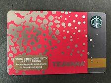 STARBUCKS Card Christmas 2015 - Teavana - Serial 6113 - Free Shipping