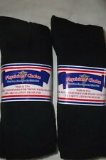 Physicians Choice Diabetic-Cushioned 13-15 Black Crew Socks- 6 Pr- Free Shipping