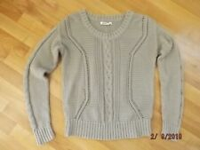 Ladies Women's OLD NAVY Large L Fawn Brown Long Sleeve Pull Over Cable Sweater