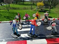 6 personnages figures Tour de France 1/32 wielrenners mécanos cyclistes cyclists