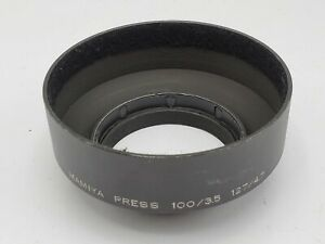 Mamiya Metal Screw-In Lens Hood Shade for Sekor Press 100mm F3.5 127mm F4.7 Lens