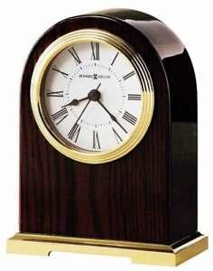 BRAND NEW HOWARD MILLER 649-389 CARTER HEAVY ROSEWOOD TABLE CLOCK
