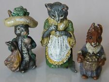 Collection Of 3 Miniature Beatrix Potter Cold Painted Figures