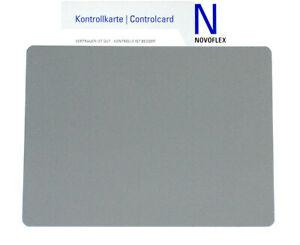 NOVOFLEX Zebra Kontrollkarte Graukarte / Weissabgleich 20x15cm (NEU/OVP)
