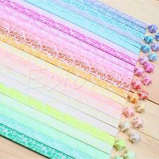 30Pcs Luminous ILOVEYOU Origami Lucky Star Paper Strips Handmade Paper Folding