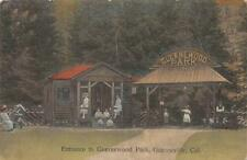 Entrance to Guernewood Park, Guerneville, CA 1912 Vintage Hand-Colored Postcard
