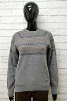 Maglione Donna ELLESSE Taglia L Felpa Pullover Sweater Woman Lana Grigio Vintage