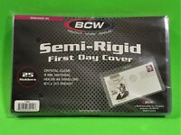 25 SEMI-RIGID FIRST DAY COVER HOLDERS, ARCHIVAL SAFE, HOLDS #6 ENVELOPE, SR6