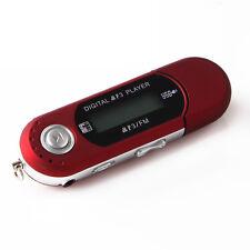 Portátil USB MP3 Reproductor Digital LCD Apoyo 32GB TF Tarjeta & FM Radio Rojo