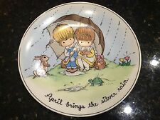 1972 Wolfpit Collectors Plate April Brings the Silver Rain