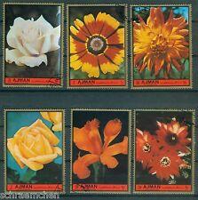 Ajman 2138 - 2143 , o , Motiv Blumen - Rosen