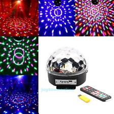 Remote Music Crystal Magic Ball LED Stage Lighting MP3 Disco DJ Party Light Show
