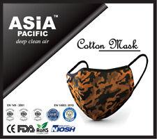 Premium Reusable 5 Layers Cotton Face Mask Orange (CE/FDA/NIOSH/ROHSCertified)