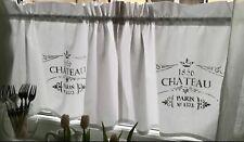 Scheibengardine Landhaus Bistrogardine Vorhang Shabby Weiß Grau CHATEAU