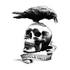 1x Tatoo Makeup Body Skull Crow Expendable Men Waterproof Temp Tattoo StickersHC
