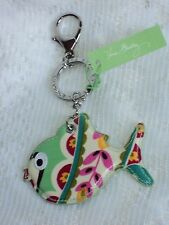 Vera Bradley Tutti Frutti Seashore Keychain Fish Multi-Color Laminated$21