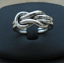 925 Sterling Silver Infinity Eternity Love Ring Size 8 Band Hallmar Oxidized New