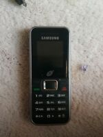 Samsung SGH-S125G Black/Siver Tracfone Cell Phone Cellular