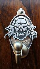 Cráneo de vaquero Gancho clave/Gancho para ropa (diseño Exclusivo) Estaño