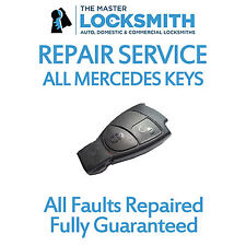 Repair Service For Mercedes Benz C ML E CLK B CLS S 3 Button Smart Key