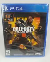 Call of Duty Black Ops IIII 4 Playstation 4 Brand New Sealed Free Fast Shipping