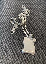 Vintage Sterling Silver 925 Men's Women's Necklace Jewelry Quran 5 gr اية القلم