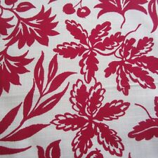 "160CM X 89 CM / 62"" Tootal Lystav Rayon Fabric 1950s Red Floral Yardage Vintage"
