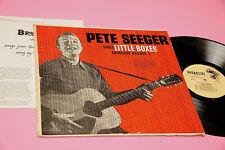 PETE SEEGER LP CHANSONS LITTLE BOXES BROADSIDE BALLADS ORIG USA EX BROCHURE