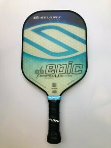 Selkirk Sport Pickleball Paddle Epic AMPED *DOUBLE GRIP* Lightweight Blue New