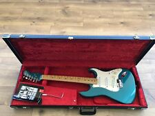 1995 USA Blue Fender Stratocaster Electric Guitar & Strat / Tele Case. A Beauty!