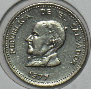 El Salvador 1977 25 Centavos 903468 combine