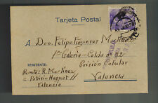 1940 Valencia Spain Postcard cover to Carcel Calular Prison Felipe Martinez