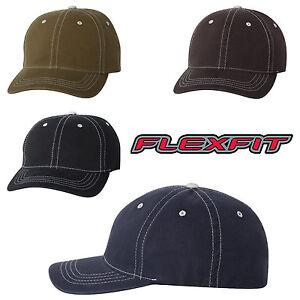 FLEXFIT Unstructured Hat FITTED Size S/M L/XL Contrast Color Baseball Cap 6386