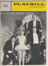 """Robert Dhery  """"La Plume de ma Tante""""  Playbill Broadway 1960"""