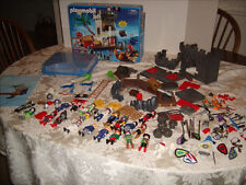 HUGE 135 Pc. Playmobil Lot - Pirates-Treasure Chest - Swords- Police & More