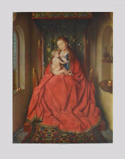Jan van Eyck  Kunstdruck Poster hochwertiger Lichtdruck Madonna von Lucca 80x60