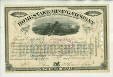 1879 HOMESTAKE MINING COMPANY STOCK CERTIFICATE