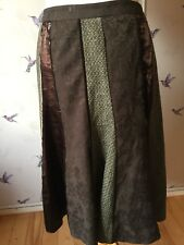 Next Brown Sequin, Floral, Wool Panel Skirt 16