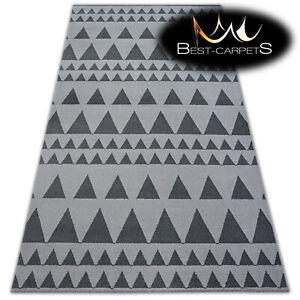 AMAZING Carpets MODERN RUG 'SENSE' Dreiecke silver grey Best-Carpets microfiber