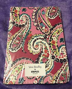 Vera Bradley Small Journal Wildflower Paisley Fuchsia 130 Lined Pages Notebook