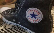 CONVERSE Chuck Taylor ALL STARS Distressed Black Gray High Top Womens 9 EUC