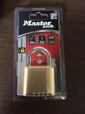 Master Lock Combination Padlock with Reset Tool 175D