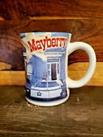 Collectable Mayberry Mt Airy NC Embossed 3D Coffee Mug Sherriff's Squad Car EUC