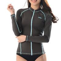 Belleap Rash Guard Mens Zip-up Long Sleeve Swimwear UV Protection 0331 CA